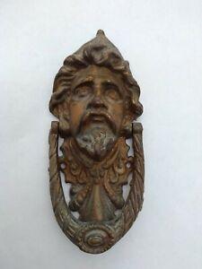 Vintage Brass aesthetic man's face Door Knocker
