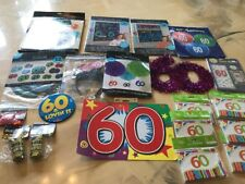 Huge Party Lot 60th Birthday Invitations Decorations Party Lot Confetti Banner