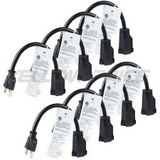 8x New AC Power Supply Adapter Cord Cable Connectors 3 pin 3-prong 15cm US Plug