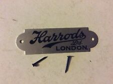 Harrods of London Ltd aluminium  tag VINTAGE 50s retro