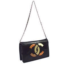 CHANEL Wallet On Chain Lipstick Line Shoulder Bag Purse Black 16076765 RK13504h