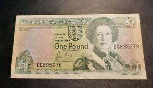 UK/England - The States of Jersey - One Pound £1 Bank Note, Serial No. DC 895276