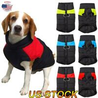 Small/ Large Funny Pet Clothes Winter Warm Pet Pajamas Padded Coat Vest Jacket