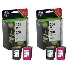 2x HP 301 Black & Colour Ink Cartridges For DeskJet 3050 Inkjet Printer