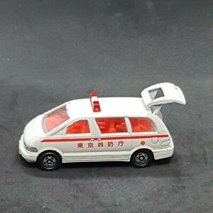 Tomica Toyota Estima Ambulance #99 Vintage Die-Cast Vehicle Tomy 1990s