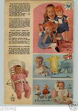 1972 PAPER AD Doll Softina Cameo Kewpies Suzette Indian Princess Raggedy Ann
