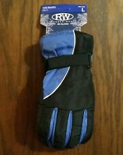 BLUE LARGE Mens SKI GLOVES Snowboard Bike Lined Warm Winter Water Repellent USA