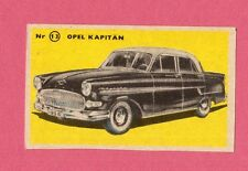 Opel Kapitan Vintage 1950s Car Collector Card from Sweden