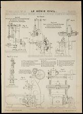 Plan ancien Machine-outils. École d'arts et métiers de Paris. 1913 Génie civil