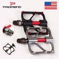 PROMEND Mountain Bike Pedals 3 Bearings Ultralight Aluminum Flat/Platform Pedal