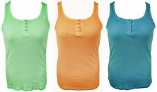 ACID WASHED RIBBED COTTON VEST TOP, 3 COLOURS, CRAZY WORLD SIZE M/L/XL, LT435