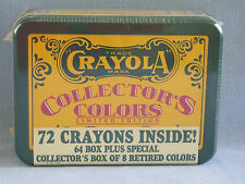 CRAYOLA Limited Edition Collectors Tin of Crayons Retired Colors New Sealed 1991