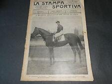 1903 IPPICA DERBY ONORIO CICLISMO AUTOMOBILISMO VINCENZO FLORIO