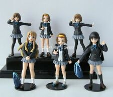K ON K-ON Hirasawa Yui Akiyama Mio Anime Figure Toys Set of 6pcs