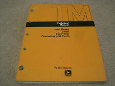 John Deere 595D Excavator Technical Operation and Test Manual **NICE** TM-1444