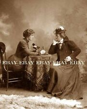 PHOTO VICTORIAN WOMEN 3D STEREOPTICON STEREO VIEWER STEREO CARD VIEW