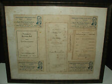 ORIGINAL 1934 President's Birthday Ball Franklin D. Roosevelt 4 tickets+program