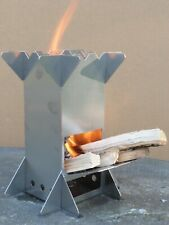 Wood Burning Camping Stove - collapsible and portable (with carry bag)