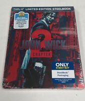 John Wick Chapter 2 Blu-Ray DVD Limited Edition Exclusive Steelbook NEW SEALED