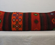 16x40 Pillow Cover Striped Ethnic Vintage Kilim Pillow,Long Bed Pillow Cover