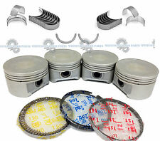 01-05 HONDA Civic 1.7L D17A2 D17A6 Engine Pistons and Rings Main Rod Bearings