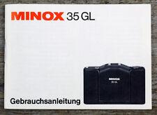 Kamera Bedienungsanleitung MINOX 35 GL 35GL User Manual Anleitung (X8062
