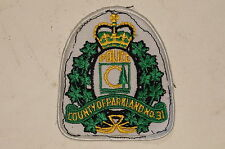 Canadian Alberta County Of Parkland No.31 Police Patch