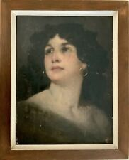 """GYULA EDER (1875-1945) HUNGARIAN ORIGINAL OIL ON PANEL """"LOVELY LADY"""" LISTED"""