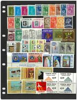 Costa Rica 50 Different Stamps All Mint Unhinged In Glassine Bag