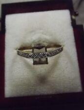 D15-102/ eleganter Ring in 333 Gelbgold Rauchquarz Designerring Gr. ca. 57