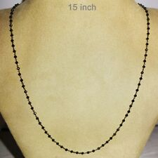 Sterling Silver 30.5ct Black Spinel Chain Necklace Gemstone Handmade Jewelry PY