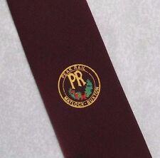 Peak RAIL MATLOCK Buxton Cravatta Vintage con Borgogna 1970s 1980s TRENI FERROVIE