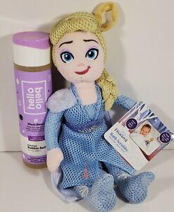 New Frozen II Elsa Character Scrubby Pal, Baby Kids Bath Accessory + Bubble Bath