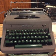 Vintage Royal Quiet Deluxe Manual Typewriter With Case Green Keys