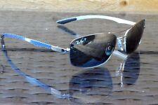 NEW Ray-Ban Tech RB 8309 004/82 59mm Occhiali da sole in fibra di carbonio/argento specchio