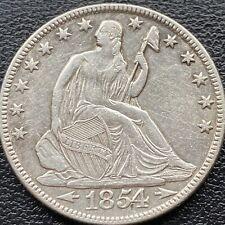 1854 O Seated Liberty Half Dollar 50c High Grade AU Details #22169