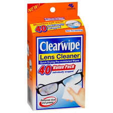 KOBAYASHI CLEARWIPE LENS GLASSES CLEANER PRE-MOISTENED WET WIPES QUICK DRY 40PK