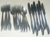 C.G. Stainless Japan Wheat Pattern Stainless Steel Flatware 23 Piece Lot