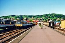 PHOTO  MINEHEAD RAILWAY STATION 2001 VIEW NW TOWARDS BUFFER-STOPS: TERMINUS OF H