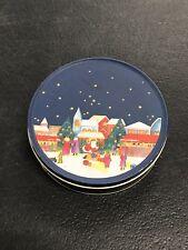 Set of 6 Metal Tin Christmas Scene Coasters