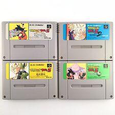 DRAGON BALL Z 1 2 3 & Super Saiya Densetsu Lot of 4 Nintendo JP SNES SFC 704-8