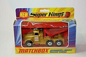 Matchbox K-2 Scammell Heavy Wreck Truck,Scarce Gold Body, Mint in Original Box