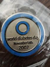 2007 World Diabetes Day Pathtag Coin Geocoin Geocache