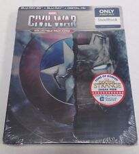 Captain America Civil War 3D Blu-Ray Exclusive SteelBook Edition NEW SEALED