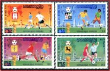 "1975 CAMBODGE KHMERE N°354E/354H** Football ""Munich 74"" KHMER CAMBODIA Soccer NH"