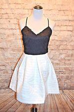 Modcloth Alfresco Opera Dress NWTOT M Black & white crochet top texture bottom