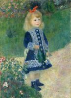 """perfect  24x36 oil painting handpainted on canvas """"A cute little girl """"830"""