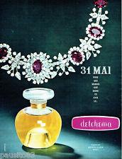 PUBLICITE ADVERTISING  026  1964  Revillon parfum Detchema
