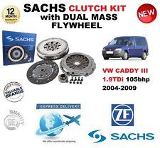 POUR VW CADDY III 1.9 TDi 105bhp 04-09 SACHS KIT EMBRAYAGE avec VOLANT MOTEUR