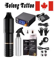 Solong Tattoo Machine Pen Kit Rotary Tattoo Machine 40Pcs Cartridges Needles Dig
